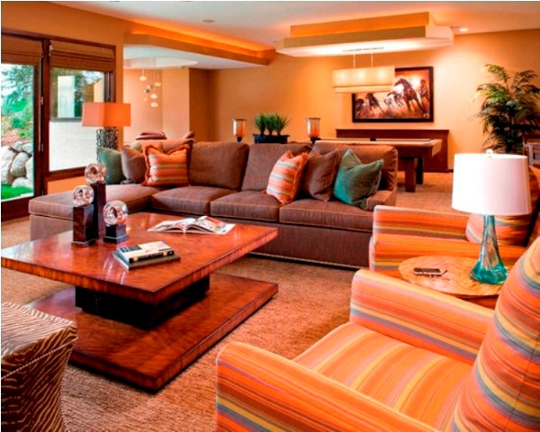 Phòng khách trải thảm toàn bộ